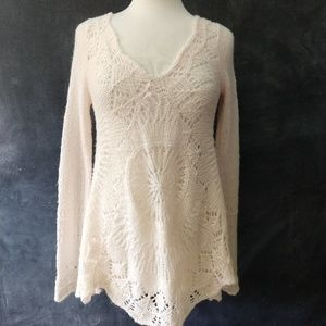 FREE PEOPLE | Wool & Alpaca V-Neck Tunic Sweater